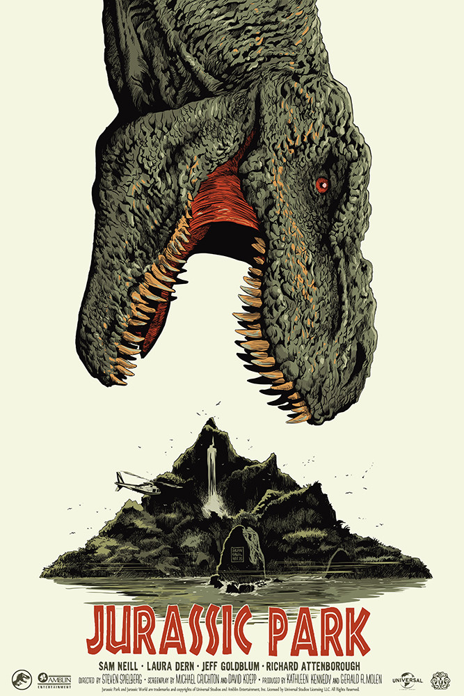 Poster List Jurassic Park : Francesco Francavilla