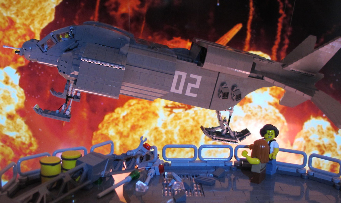 Lego Aliens Bishop Rescue