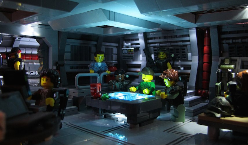 Lego Aliens Command Post