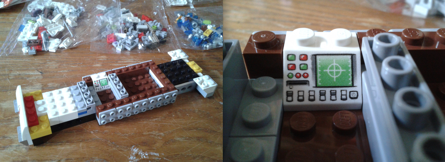 Lego Ghostbusters Ecto-1 Progress