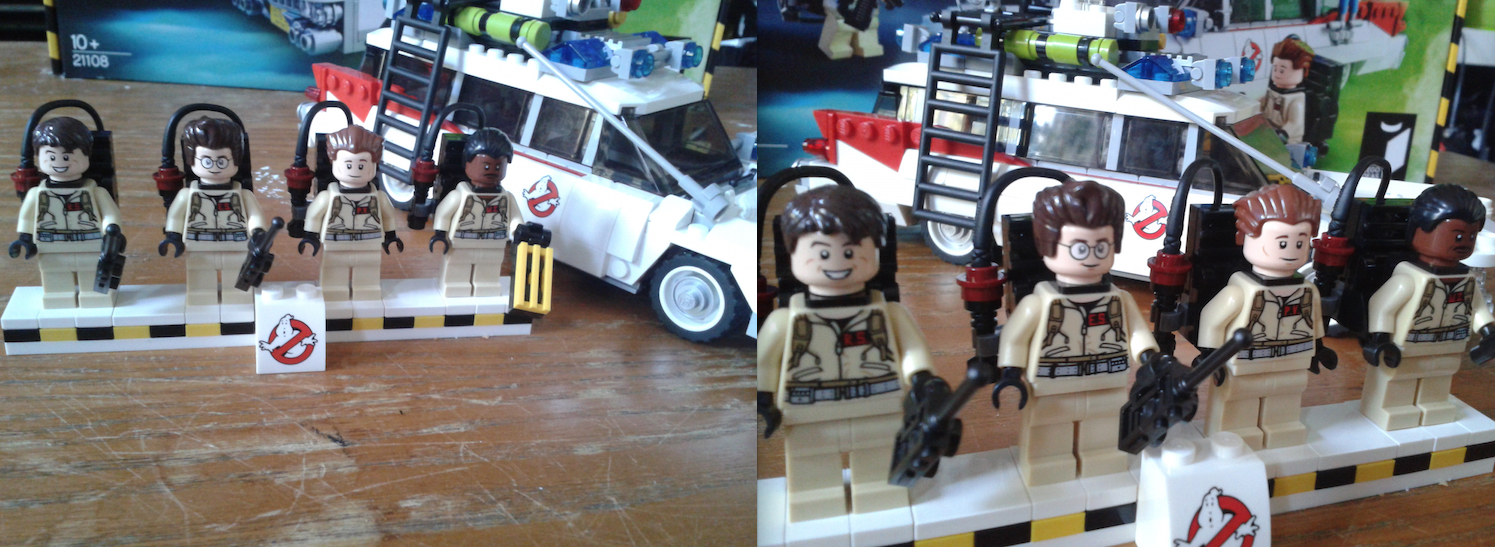 Lego Ecto-1 Finished On Display With Figures