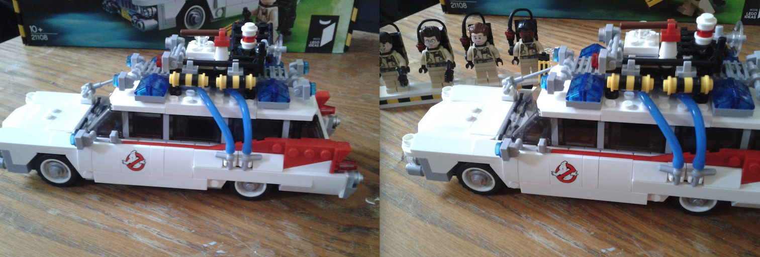 Lego Ecto-1 Set Completed With Figures