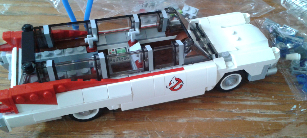 Lego Ecto-1 Building. Almost There!