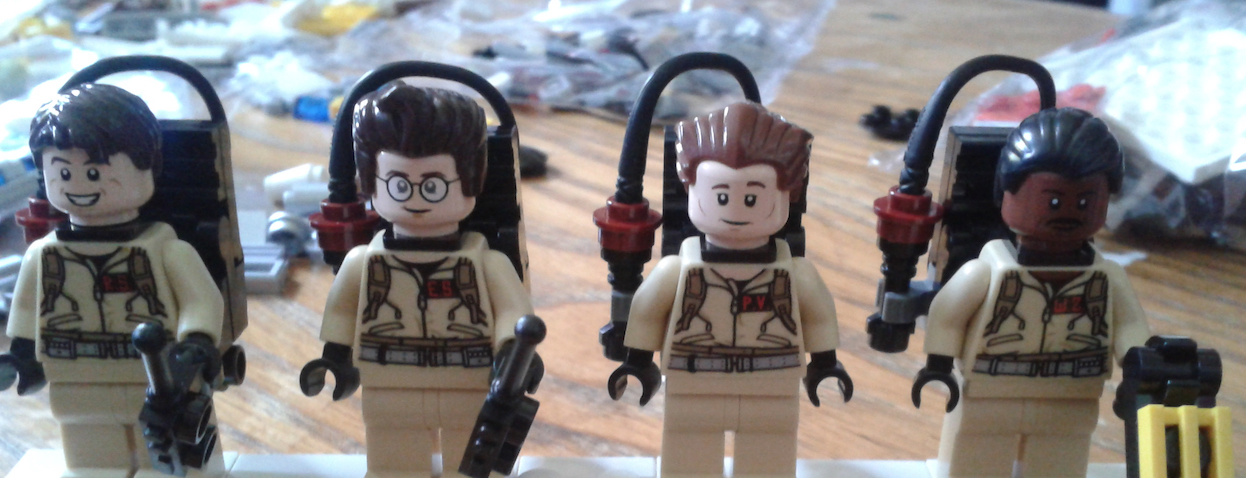 Lego Ghostbusters Figures Face Detail