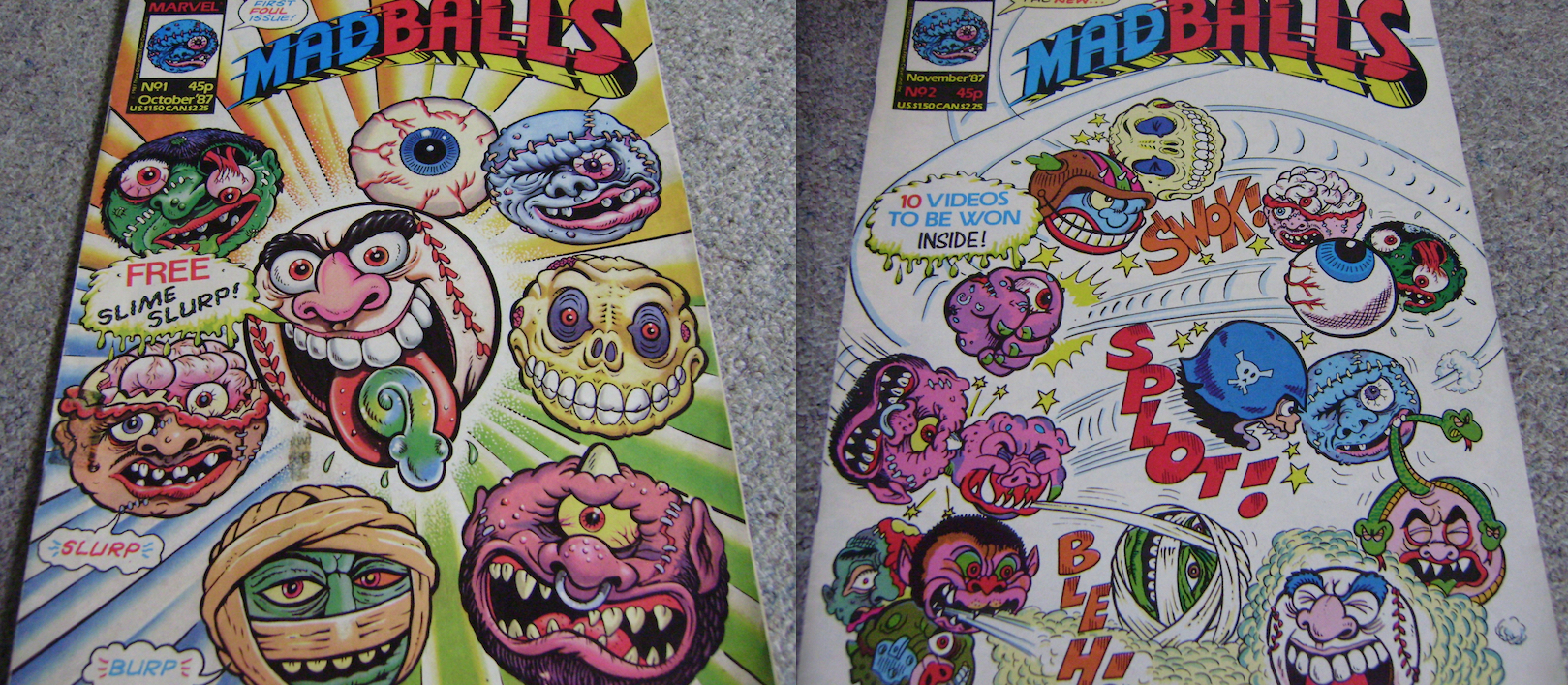 Madballs UK Comics Issues 1 & 2