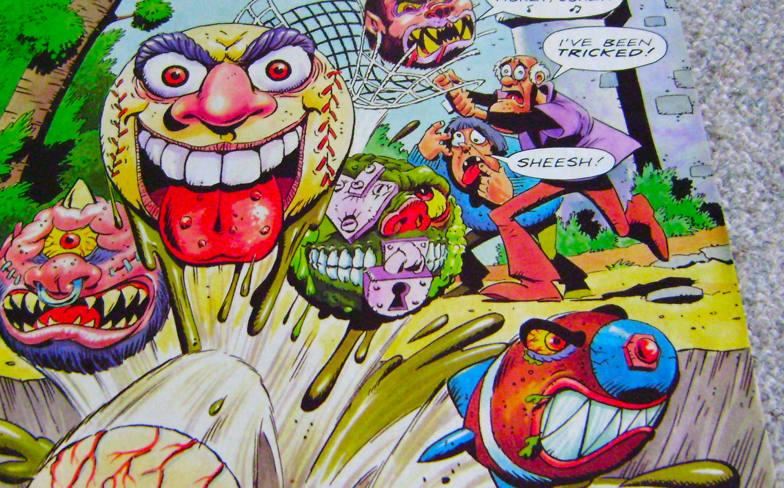 Madballs UK Comic Cover Art