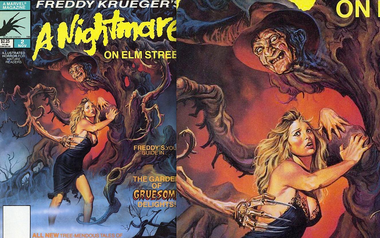 A Nightmare on Elm Street Marvel Comic Magazine Painted Cover Art