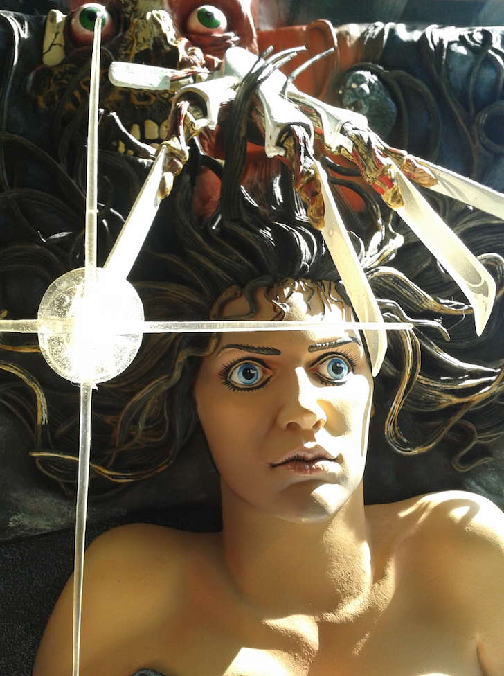 Mcfarlane 3D Elm Street Poster Face Detail