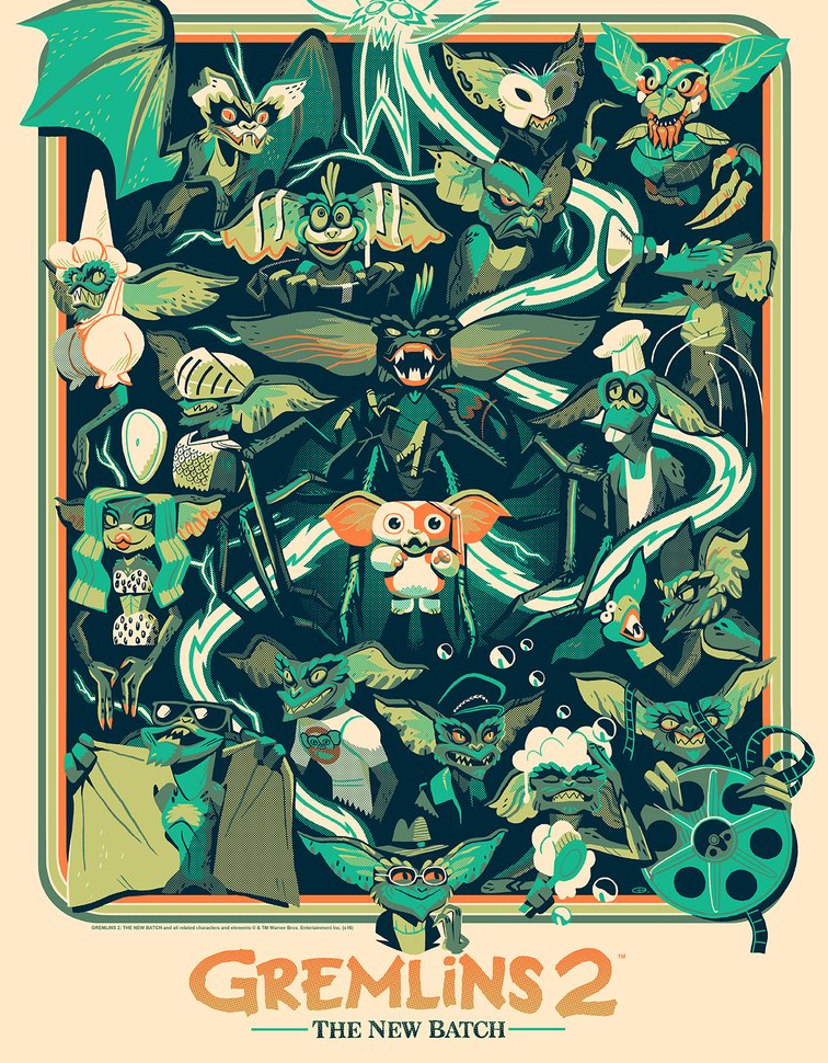 Mondo Gremlins 2 Poster Art 2016