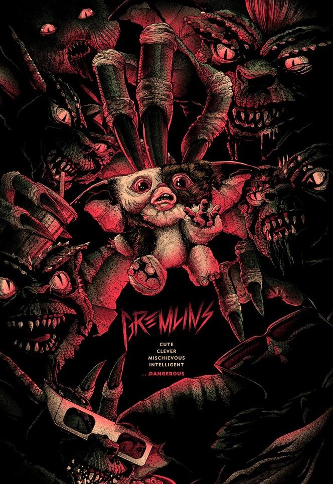 Mondo Gremlins Poster Art - Matt Ryan Tobin