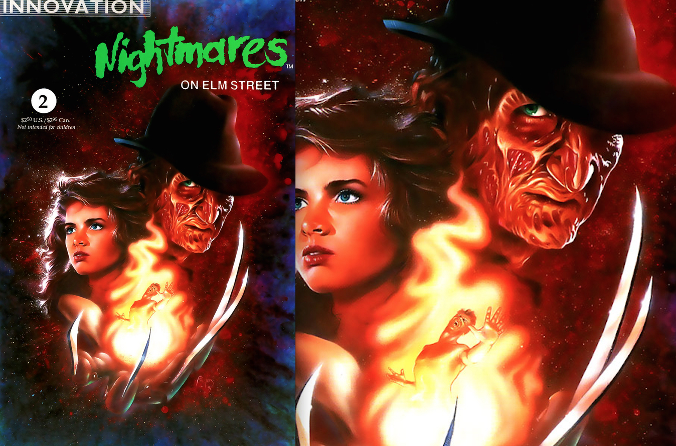 Nightmares On Elm Street : Palmer Painted Cover Art