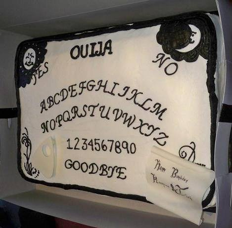 Ouija Board Cake by Happy Hour Cupcakes