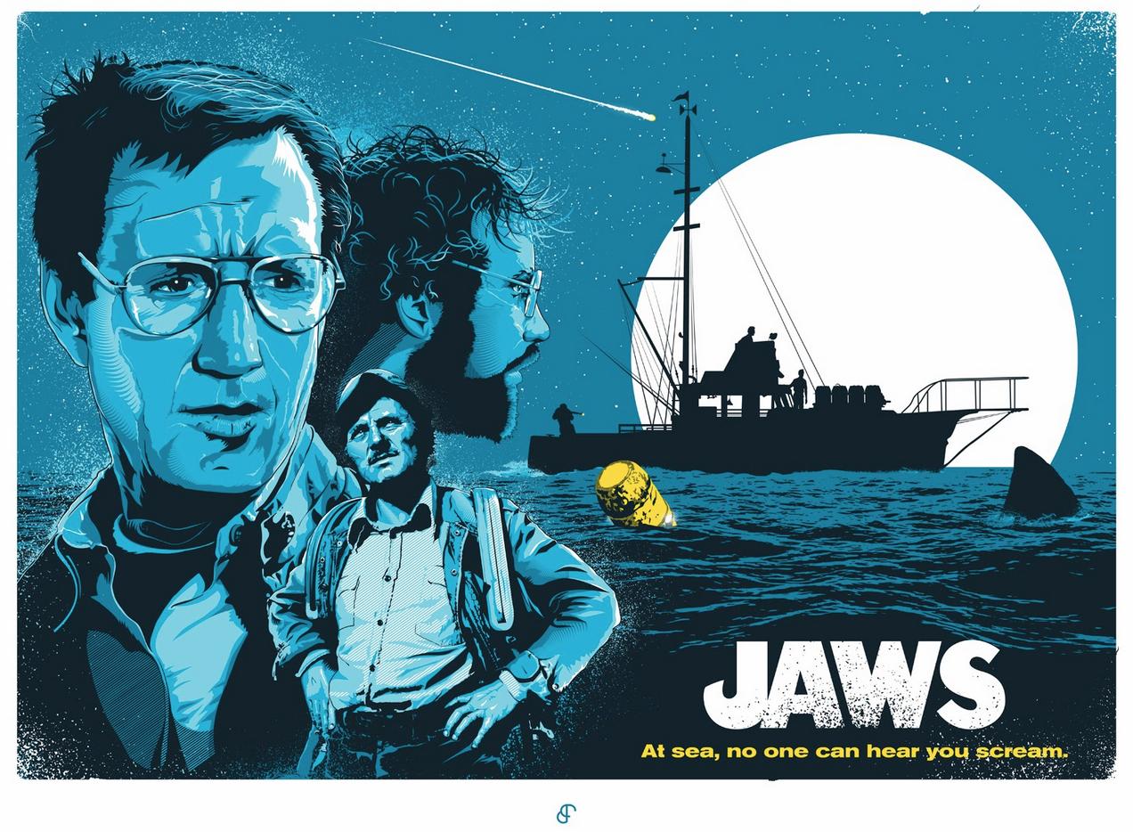 Patrick Connan Jaws Poster
