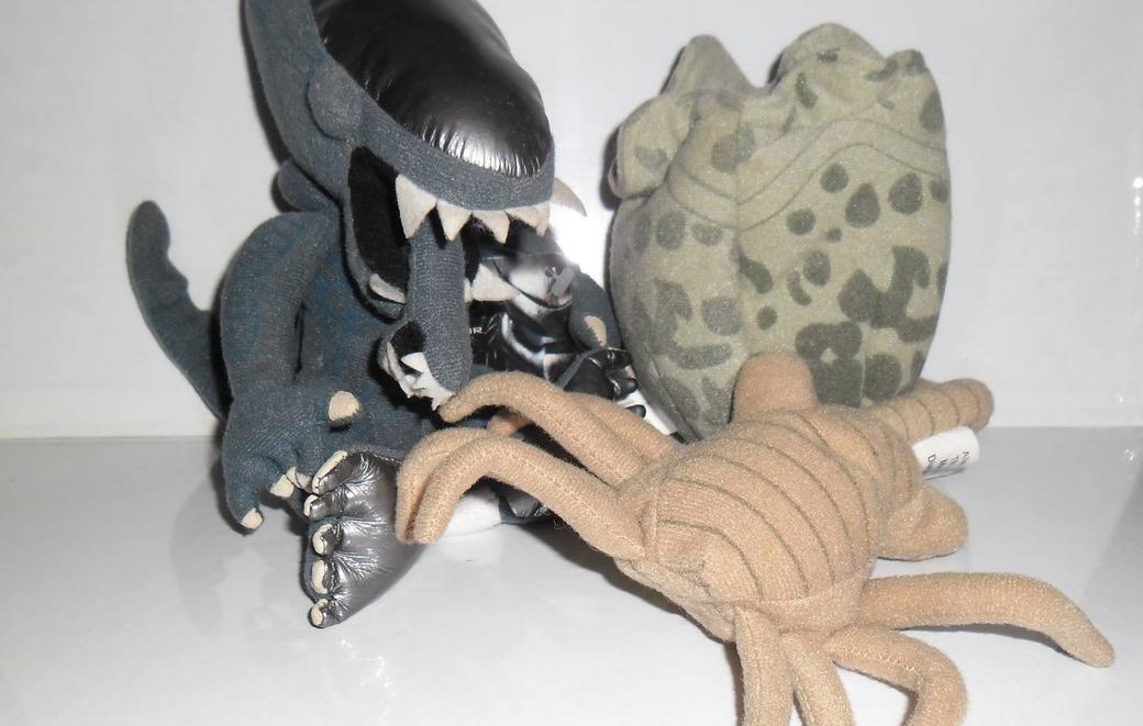 Plush Alien and Facehugger