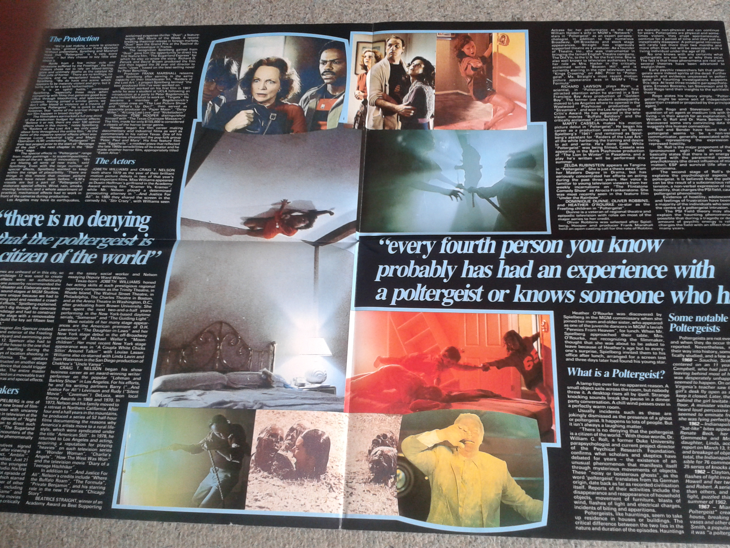 Poltergeist Poster Magazine Inside Centre Spread Unfolded