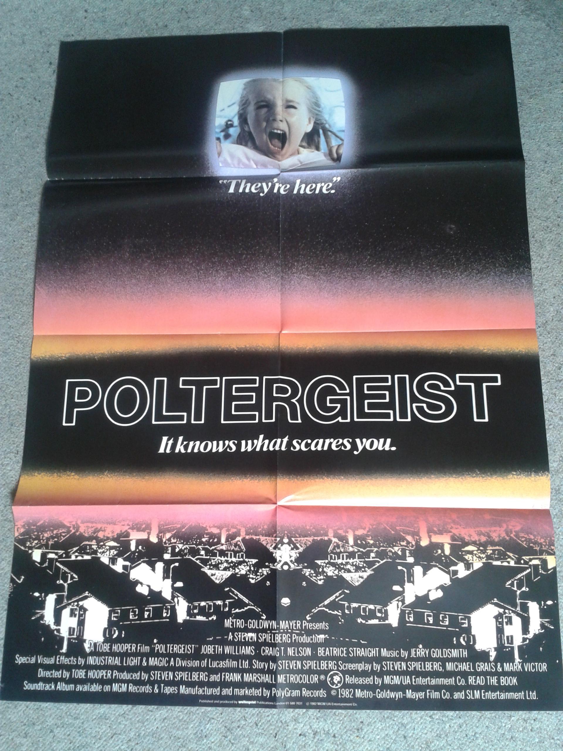 Poltergeist Poster Magazine Unfolded Poster