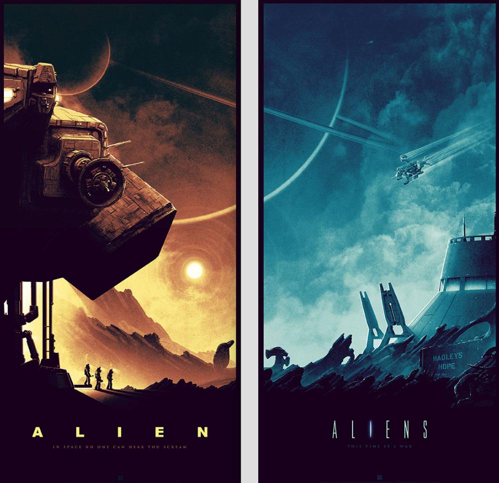 Best Poster Art 2016 - Alien / Aliens Matt Ferguson