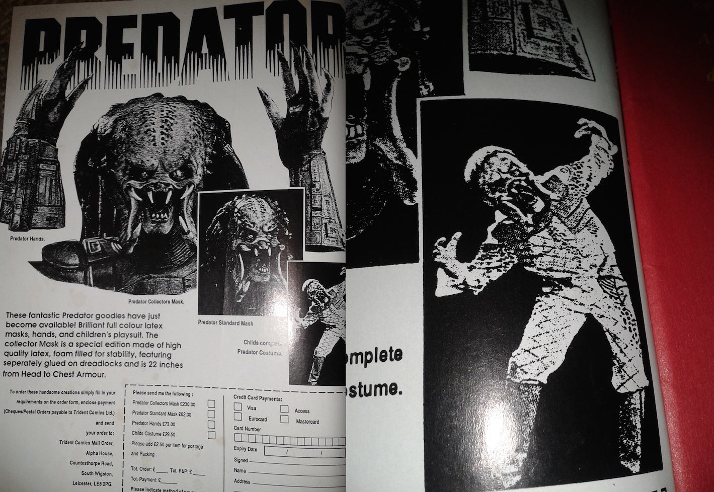Predator Merchandise Advert - 1990s