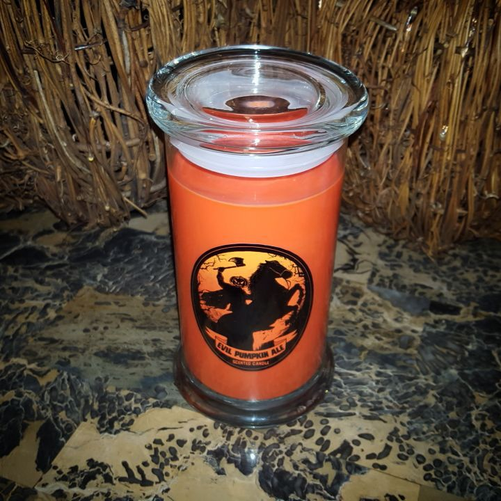 pumpkin beer candle