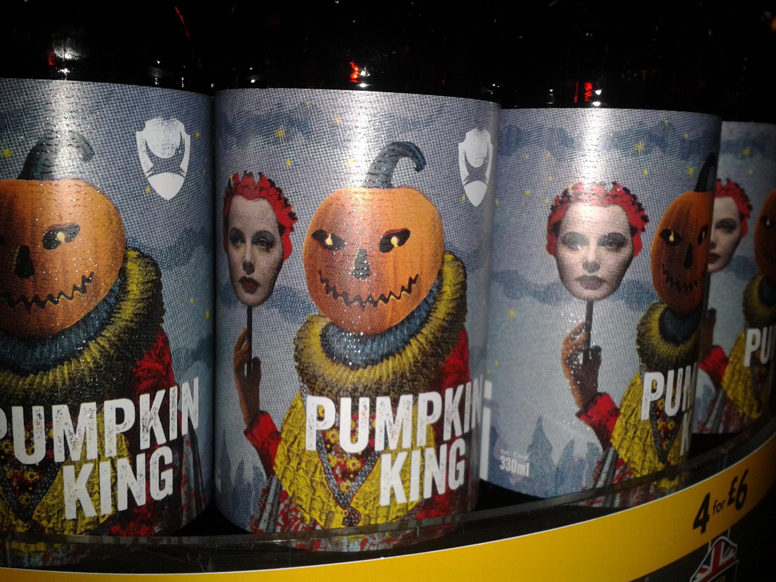 Pumpkin King Halloween Ale Bottle Art