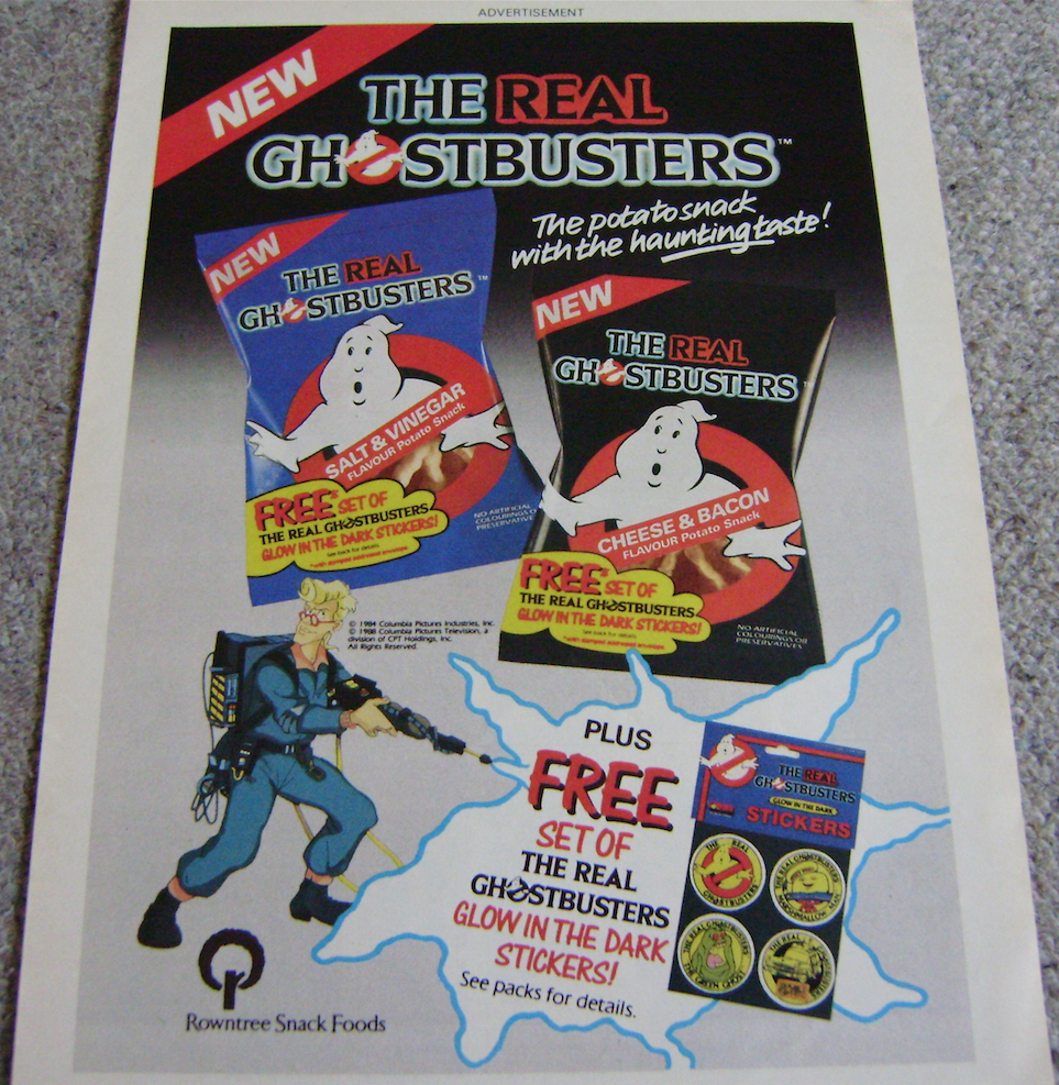 Real Ghostbusters Crisps Ad.