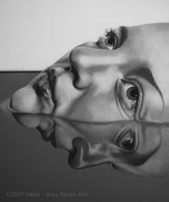 Reflection Portrait - Kasia Grey Raven Arts.