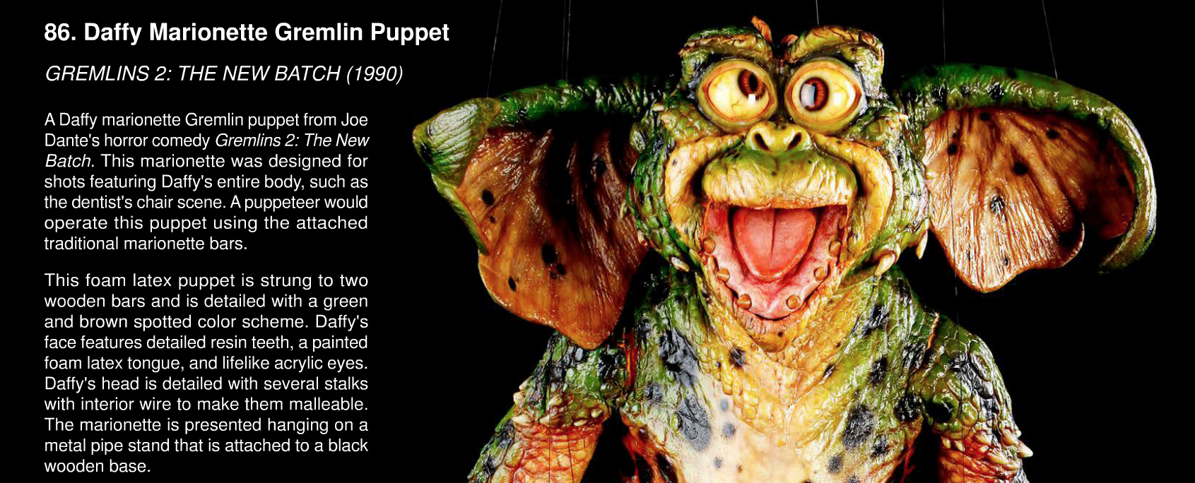 Rick Baker Daffy Gremlin Puppet