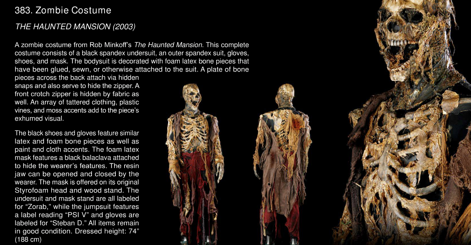 Rick Baker Zombie Costume Auction