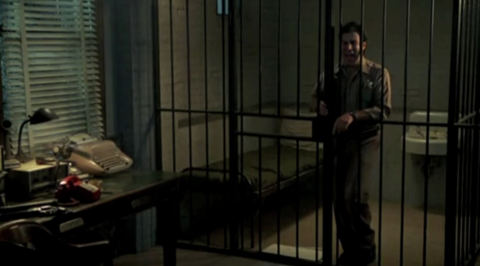 Deputy Rick Cologne Locked In Jail. Friday The 13th Part 6