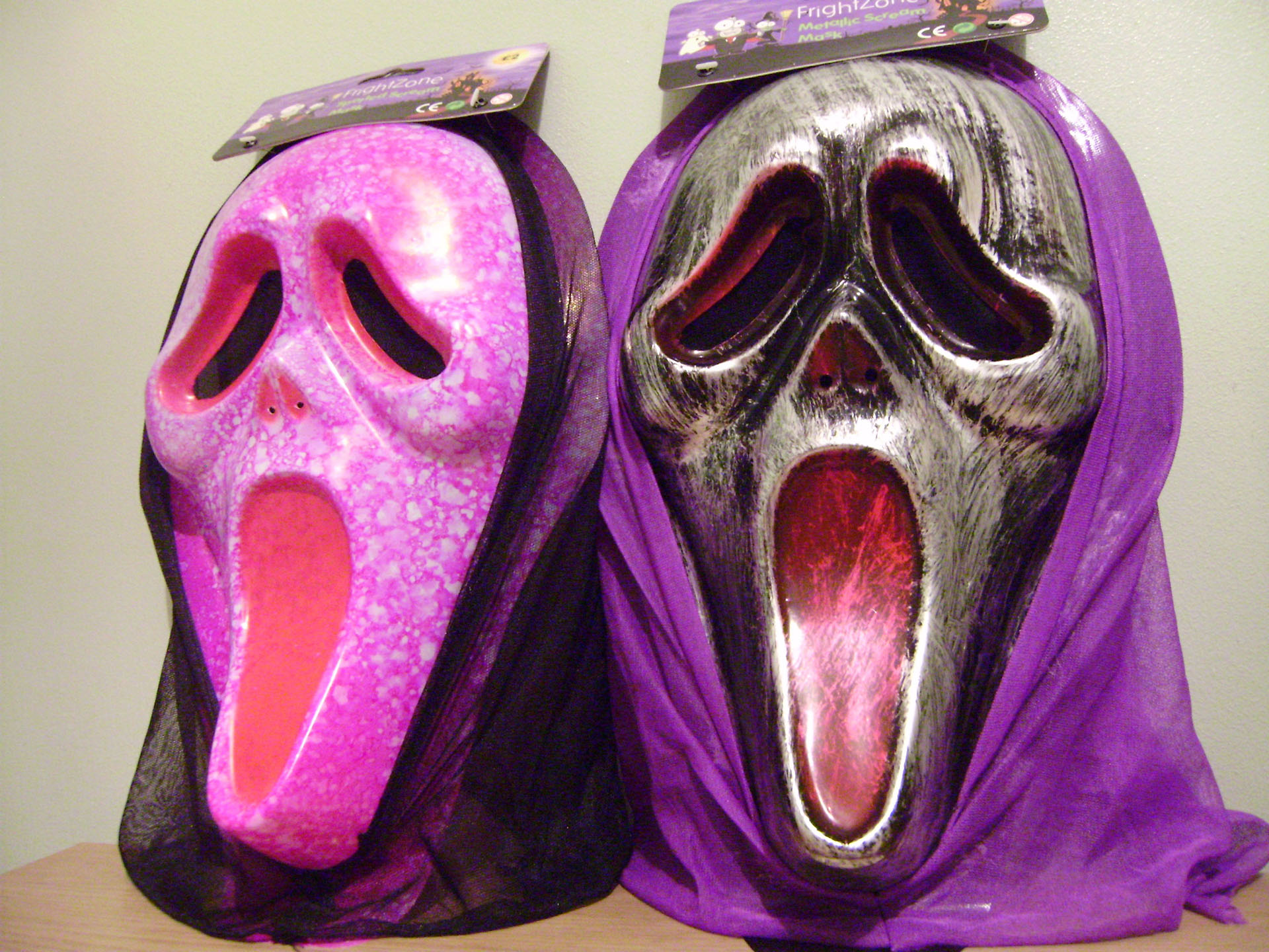 Halloween Is On The Way : The FrightZone Scream Masks ...