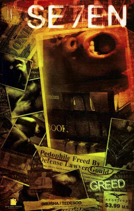 Se7en Comic Book Greed Cover