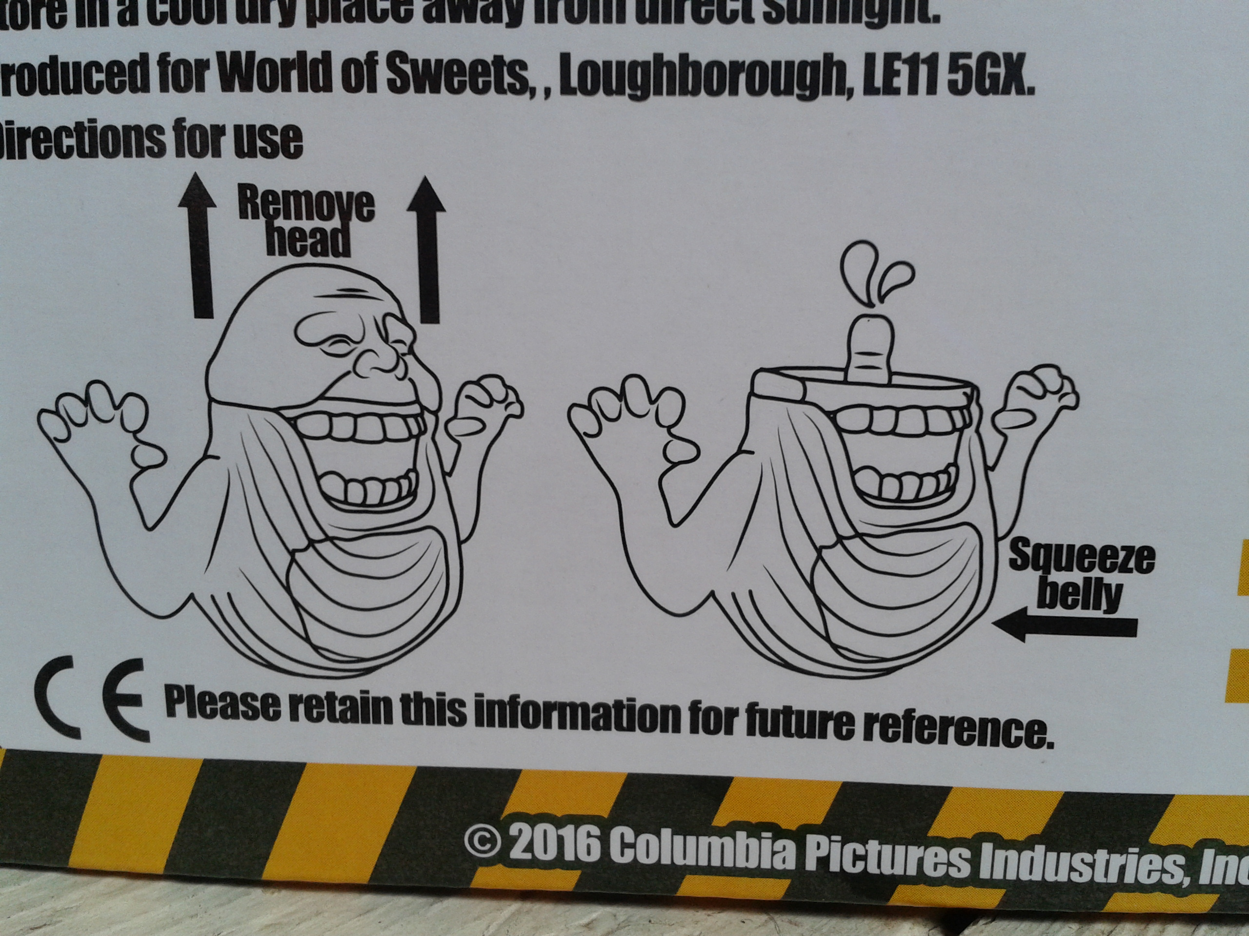 Slimer Edible Ectoplasm Box Information - Ghostbusters