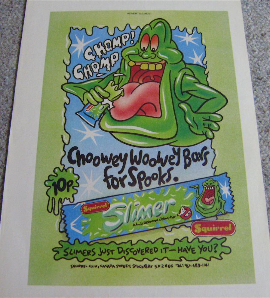 Slimer Chew Ad.