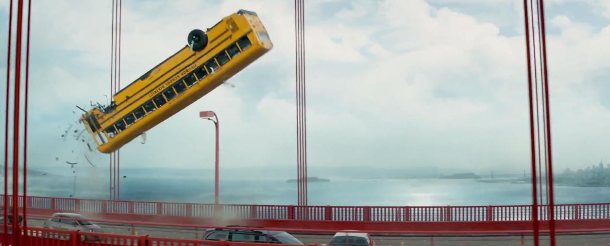 Terminator Genisys Bus Flip