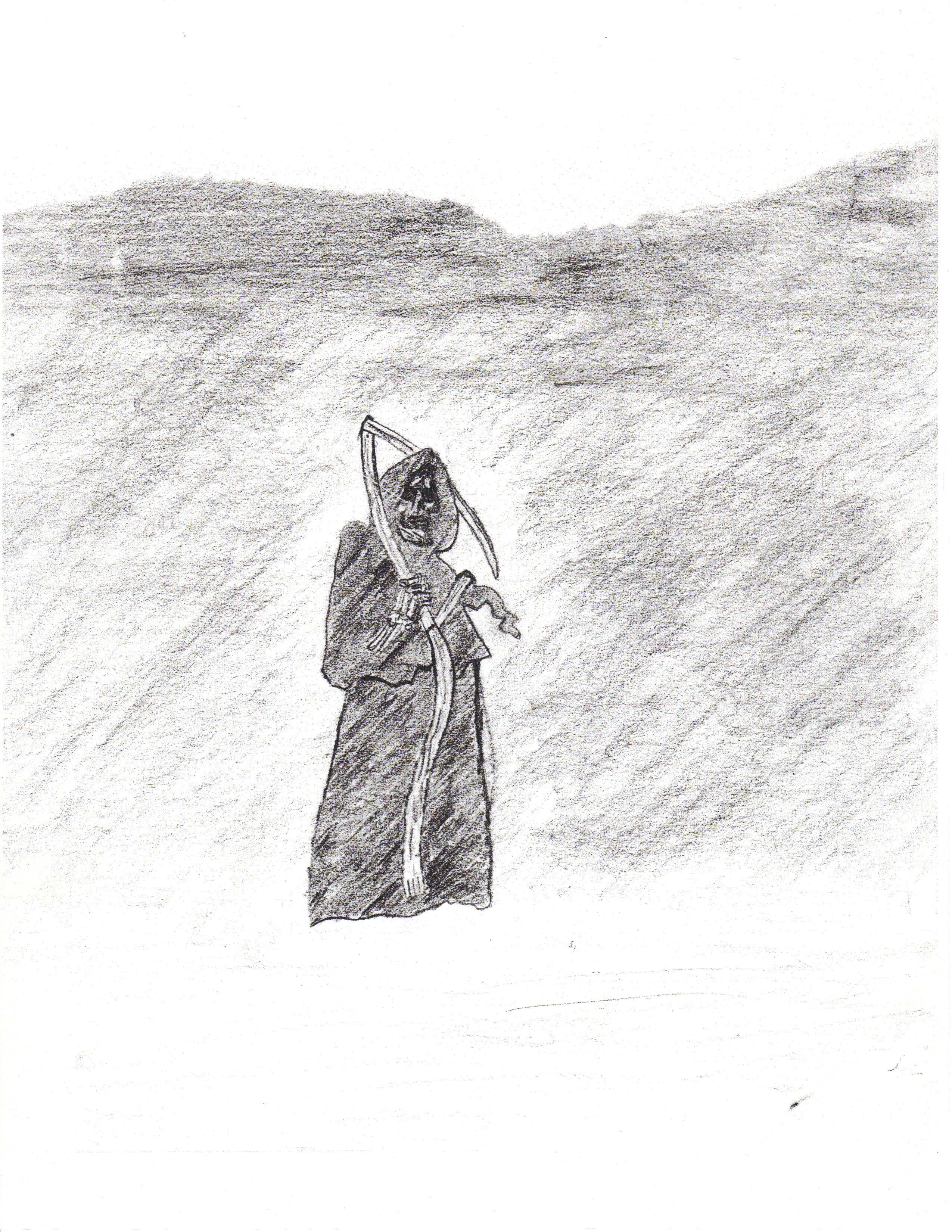 The Grim Reaper Drawing