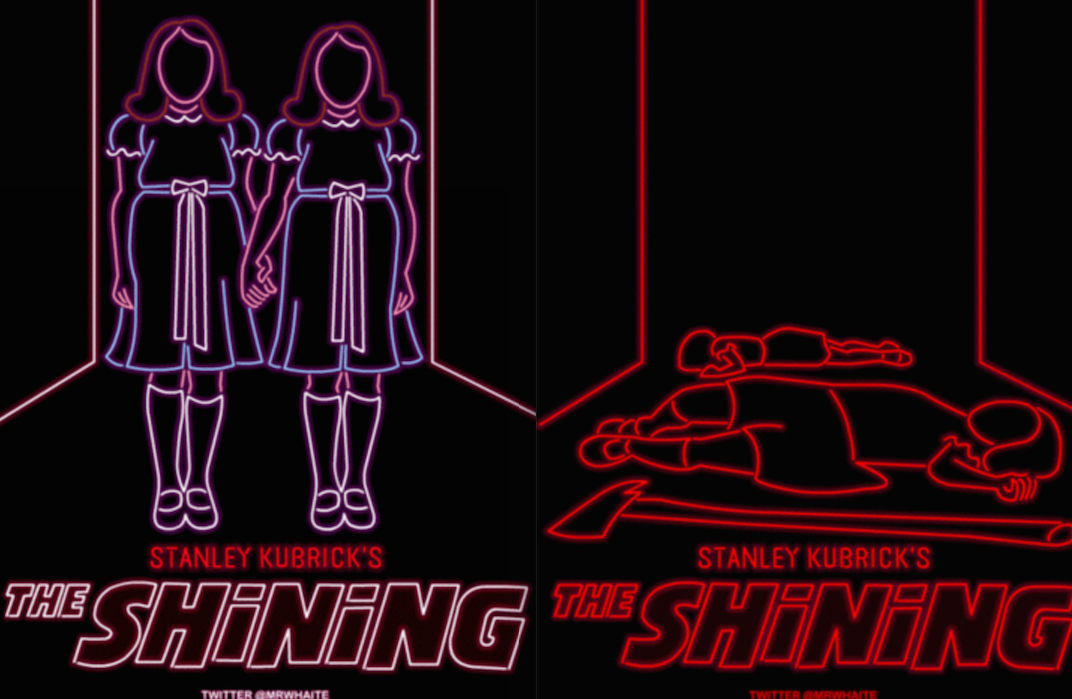 The Shining Neon Poster : Mr Whaite