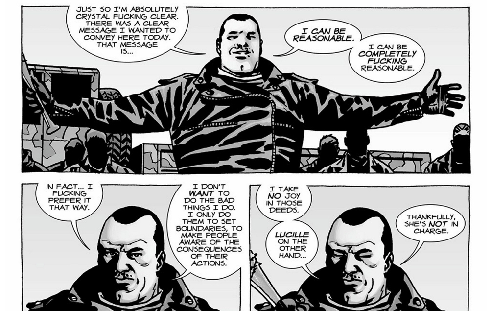 The Walking Dead - Negan never kills without reason.