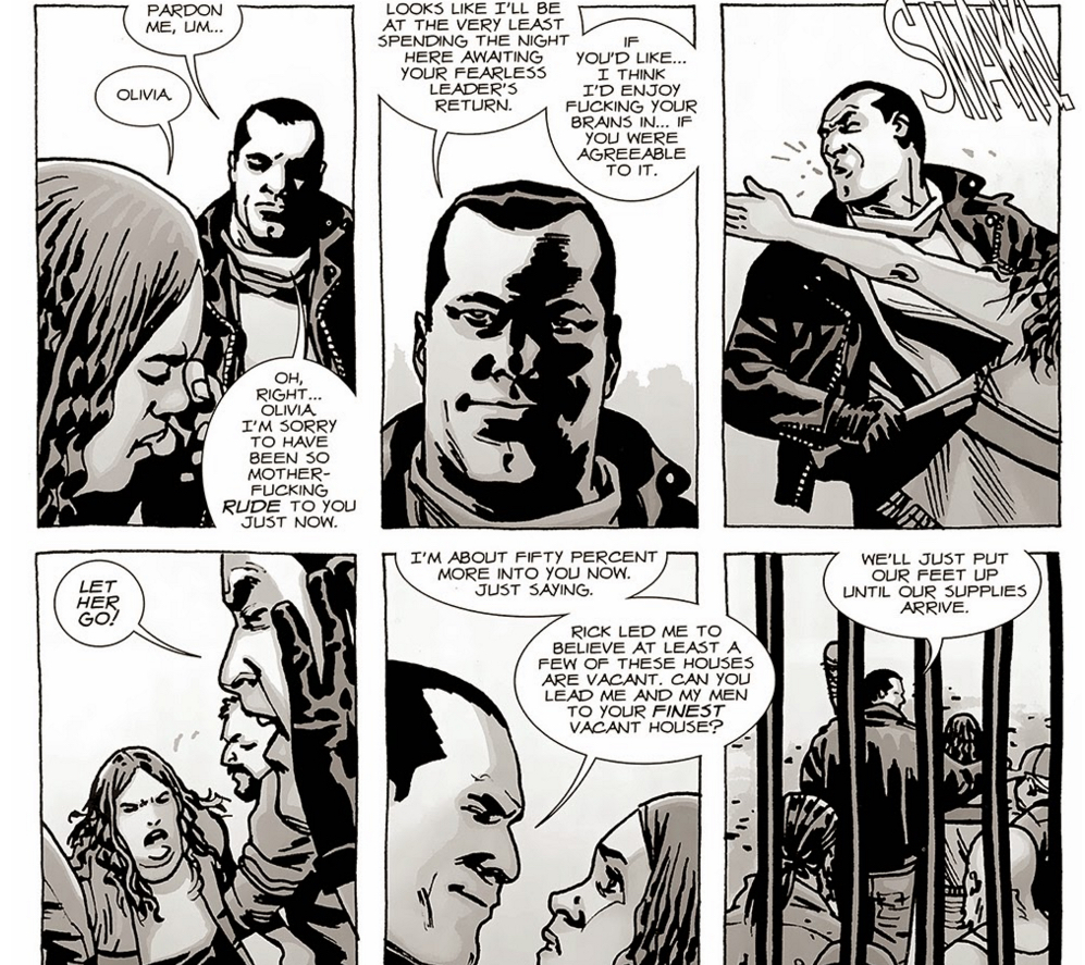 The Walking Dead - Negan Likes Bravery.