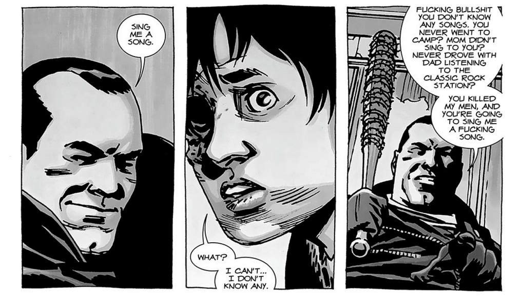 The Walking Dead - Negan's song request.
