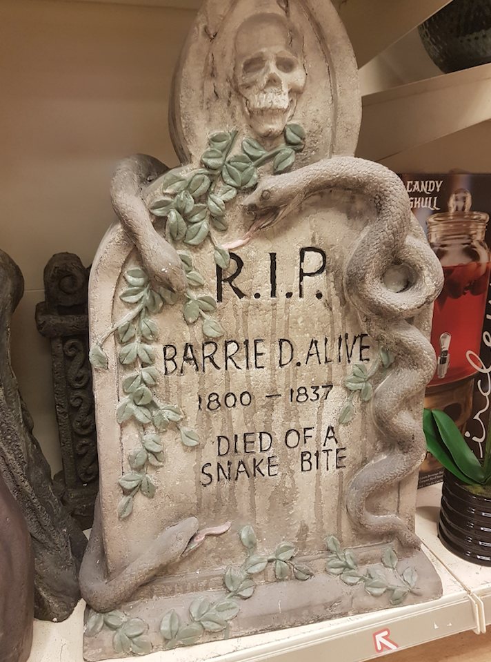 TK Maxx Store Review 2017 - Prop Headstone