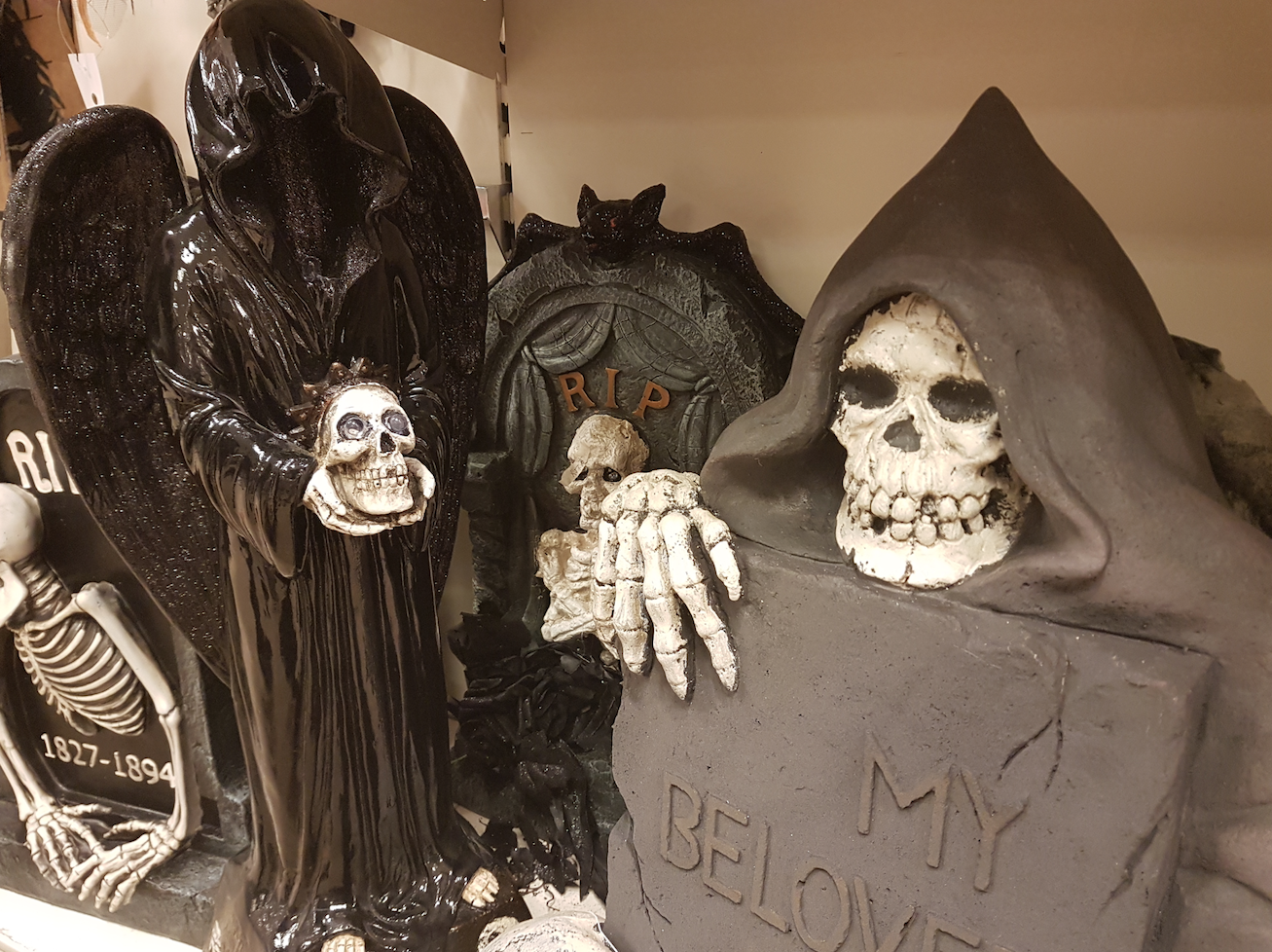 TK Maxx Store Review 2017 - Grim Reaper and Head Stone