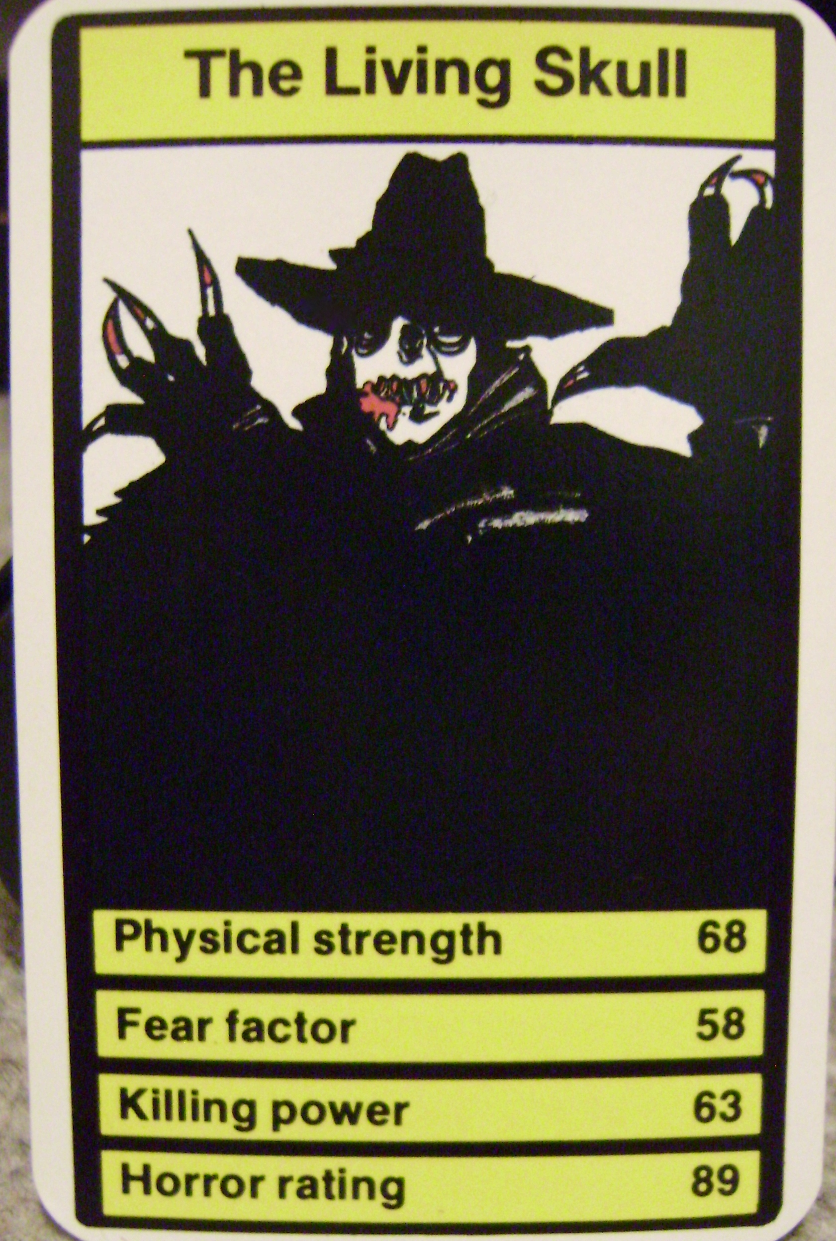 Top Trumps Living Skull