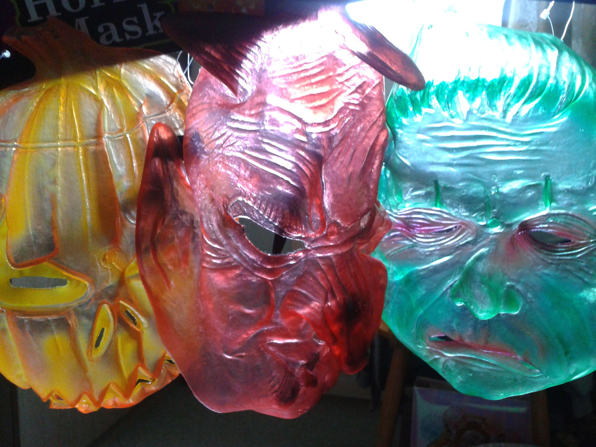 Transparent Halloween Masks In Sunlight
