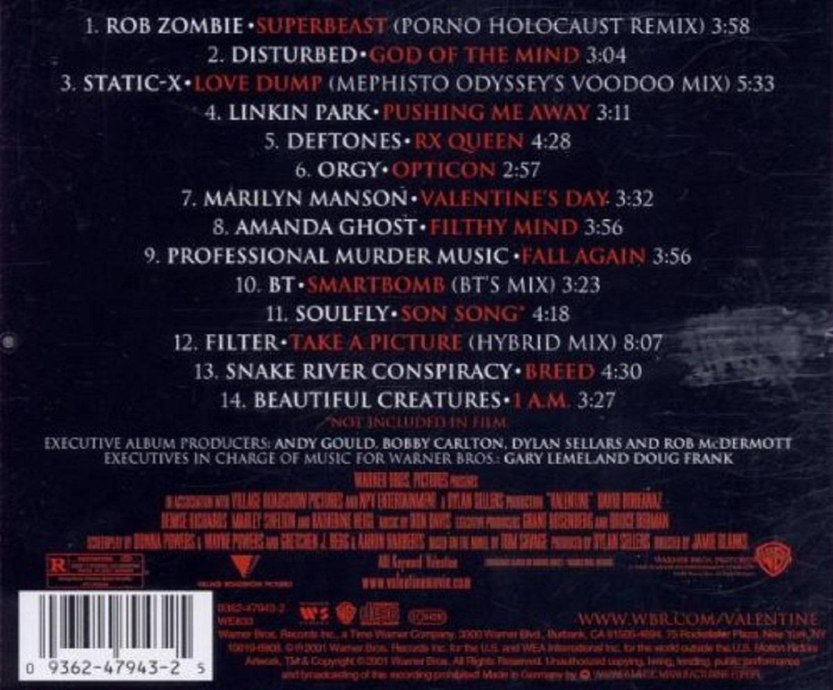 Valentine 2001 CD