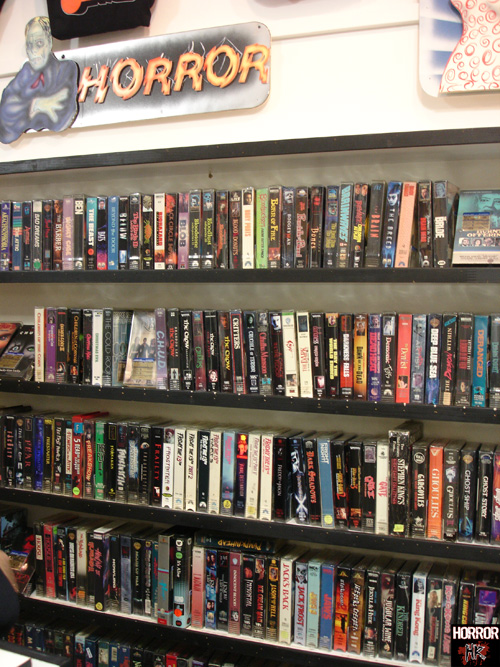 Video Store's Horror Section