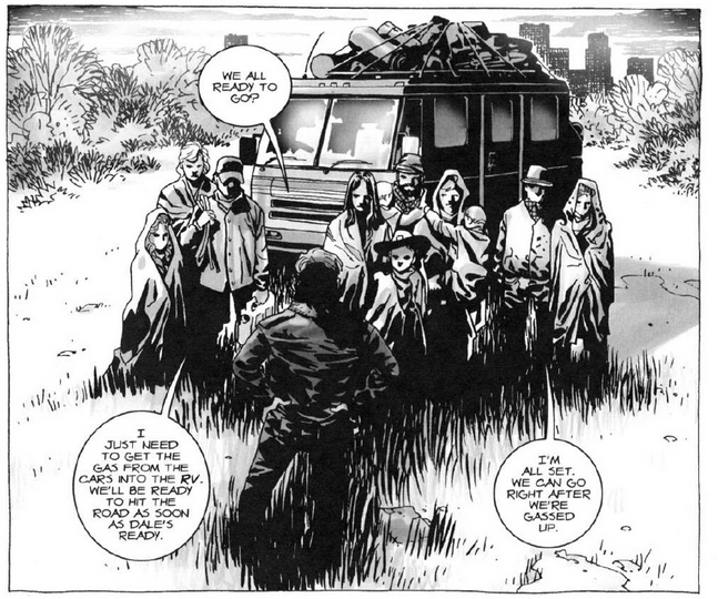 Walking Dead Leaving Camp