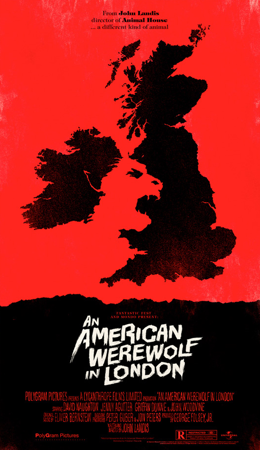 Alternative Poster Art : American Werewolf Olly Moss