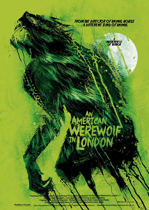 Alternative Poster Art : American Werewolf Scott Woolston