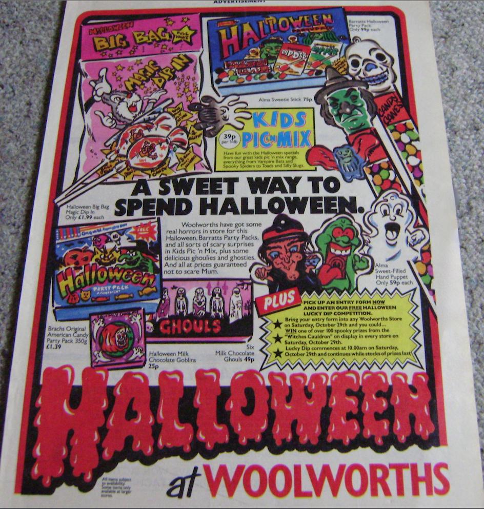 Woolworths Halloween Ad.